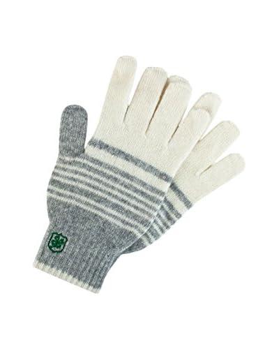 Adelheid Handschuhe Glückspilz weiß/grau