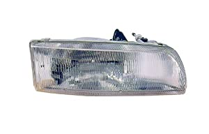 1991-1992-1993 Toyota Previa Van Headlight Headlamp Front Head Lamp Light (Without Integrated Fog Light) Pair Set: Right Passenger AND Left Driver Side (91 92 93)