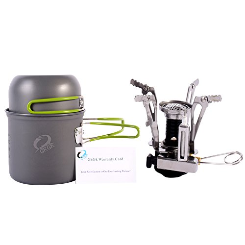 GkGk Camping Stove Bundle with Accessories, Grey (4 Items) (Collapsible Camping Stove compare prices)