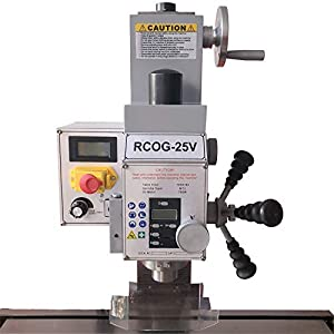 Intbuying 7X27 1HP Mill/Drill Milling and Drilling Machine Brushless Motor 110V (Tamaño: 35*23*33 in)