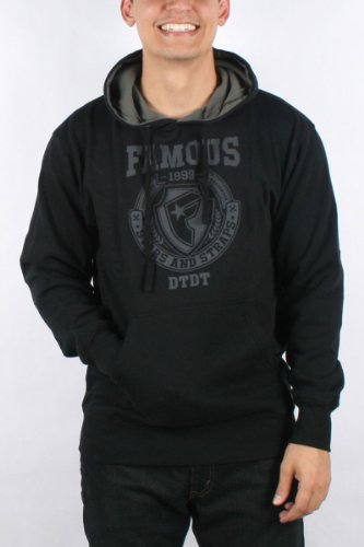 Famous Stars and Straps - Mens Division Pullover Hoodie in Black, Size: Large, Color: Black