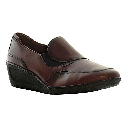 JENNY ARA Jenny Ara Womens Wedge 60943-22 Reggio Oxblood 41 Leather