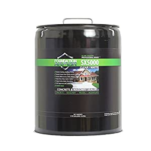 SX5000 Driveway Water Repellent for Concrete, Aggregate, Brick and Paver Driveways
