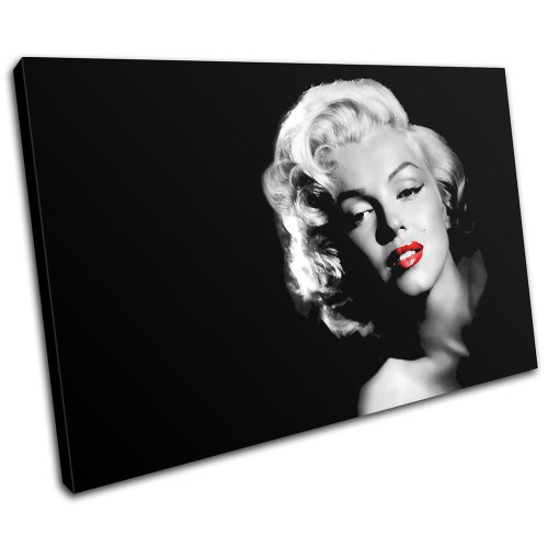 Marilyn Monroe Evil Angel Photo Picture Print On Framed Canvas Wall Art  Decor