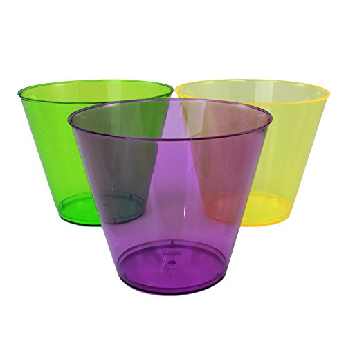 Enimay 9 oz. Tumbler Mardi Gras Party Cups Party Supplies 50 Pack - 1