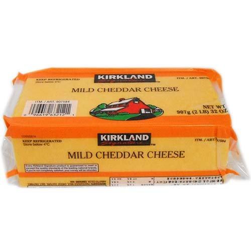 (クール便) カークランドシグネチャー マイルドチェダーチーズ 907g 1個