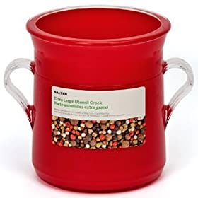 Salter Kitchen Utensil Crock - Acrylic - Red