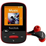 SanDisk Clip Sport 4GB MP3 Player, Red With LCD Screen and MicroSDHC Card Slot- SDMX24-004G-G46R (Certified Refurbished) ...