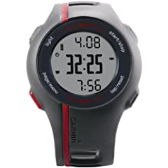 Garmin Forerunner 110 GPS-Enabled Sport Watch with Heart Rate Monitor (Red) by Garmin