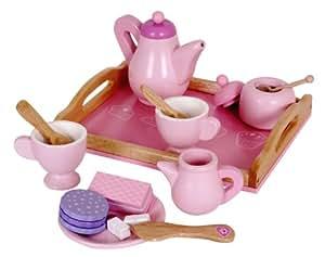 kinder kaffeeservice teeservice f r spielk che aus holz. Black Bedroom Furniture Sets. Home Design Ideas