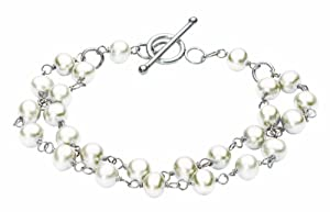 Dew Bracelet Double Pearl & Chain of 19.1cm 78302FP010