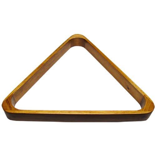 Check Out This Deluxe Wood Pool Ball Triangle in Oak Finish
