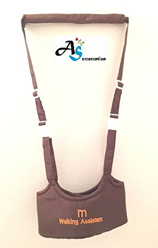 A&S Creavention® BabyWalker Baby Walking Protective Belt Carry Trooper Walking Harness Learning Assistant Version 2 (Coffee)