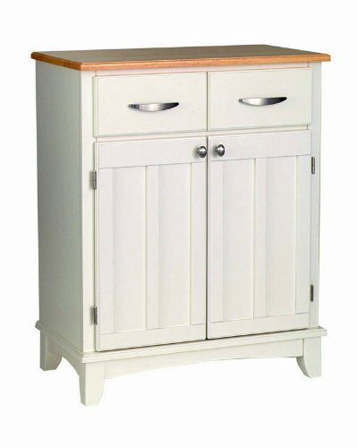 Cheap Server Sideboard with Natural Wood Top in White Finish (VF_HY-5001-0021)