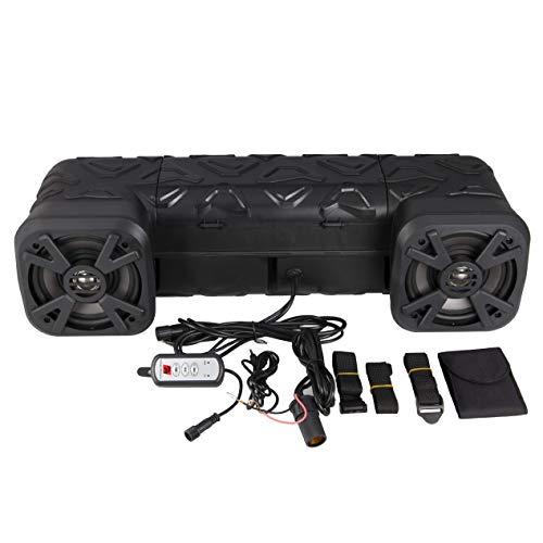 "Power Acoustik QB‐6 ATV Audio System, 6.5"" Speakers, Built in Amp, Bluetooth, RGB LEDs, Remote"
