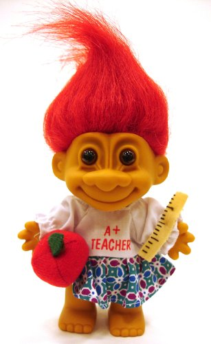My Lucky A+ TEACHER Troll Doll (Red Hair)