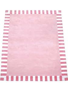 annette frank teppiche kinderzimmer kinderteppich streifenrand rosa 200x280 cm. Black Bedroom Furniture Sets. Home Design Ideas