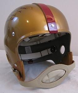 Eddie LeBaron Autographed Custom Full Size Suspension Helmet with 5 Inscriptions -... by Custom