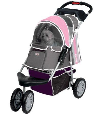 Artikelbild: InnoPet Hundebuggy Hundewagen rosa stabil robust 'First Class' - mit einer Hand klappbar