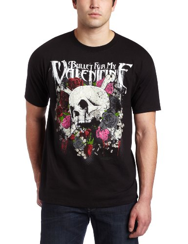 Bravado Men's Bullet For My Valentine Skull N Roses T-shirt