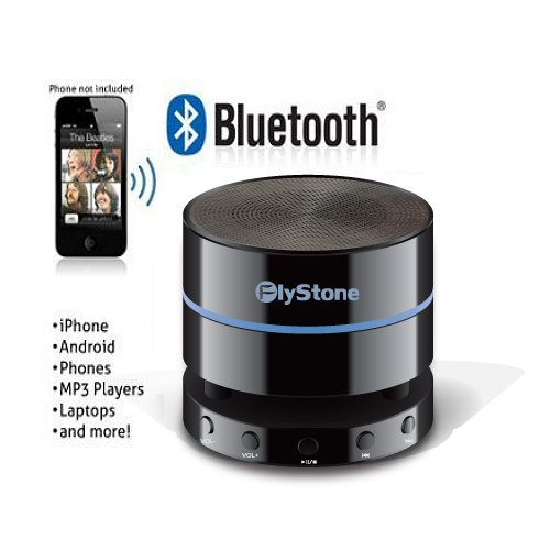 Flystone® Ka901 Mini Ultra-Portable Bluetooth 4.0 Wireless Speaker / Powerful Loud And Clear Sound With Bass / 3.5Mm Audio Aux Port / Rechargeable Battery / Volume Controller, Pause, Play, Foward, Back Buttons. / Built In Mic / For Phone Calls / Works Wit