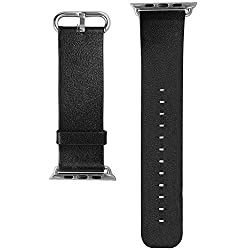 Apple Watch Band, Aerb Premium Genuine Leather Strap Wrist Band w Metal Clasp for Apple Watch & Sport & Edition [Newly Released on June, 2015] - 38mm
