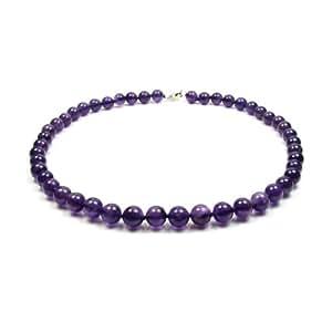 Amazon.com: Blue Pearls - Purple Amethyst Gemstones Necklace and