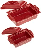 Esprit de Cuisine by Appolia Retangular 2 Piece Terrine With Lid Set, Red Currant