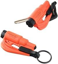 Resqme Lot de 2 porte-clés sécurité fabriqué aux États-Unis (Orange)