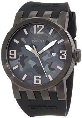 Invicta Men's 10459 DNA Black Camouflage Dial Black Silicone Watch