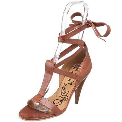 Tibi Women's Begonia T-Strap Sandal,Chestnut Tumbled Kid,5 M US