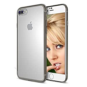 iPhone 7 Plus Case, ELV [ Anti-Scratch ] [ Clear ] [ Slim ] [ Hybrid ] [ Transparent ] Case Cover for Apple iPhone 7 Plus (2016) Case Cover - [SMOKE]