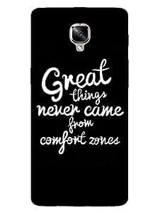 OnePlus 3 Case - Comfort Zone Gyaan - Designer Printed Hard Shell Case
