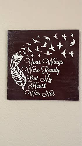 12x12 your wings were ready but my heart was for Your wings were ready but my heart was not tattoo