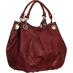 Large ''Brianna'' Bucket Bag By Vitalio - Black, Brown or Red