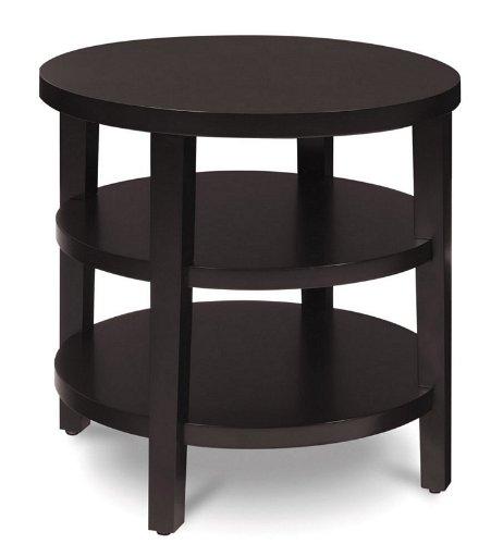 Buy Low Price Layla Round Dark Espresso Wood End Table