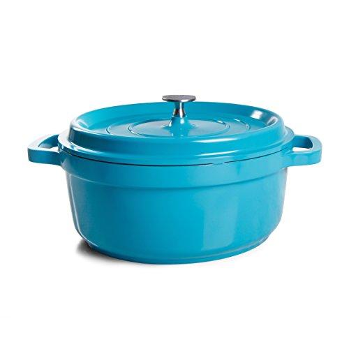 Crock-Pot Edmound Dutch Oven, 5 quart, Turquoise (Cast Iron Dutch Oven 5 Qt compare prices)