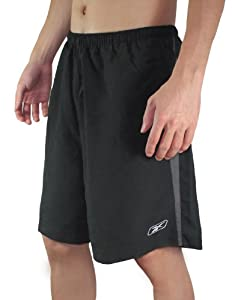 Reebok Mens High Performance Athletic Sports Shorts with Brief Lining XXL Black