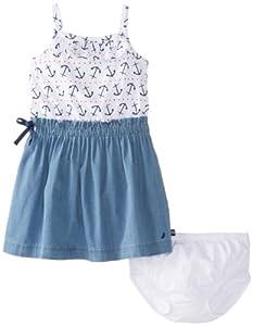Nautica Baby-Girls Infant Printed Paper Bag Waist Dress by Nautica