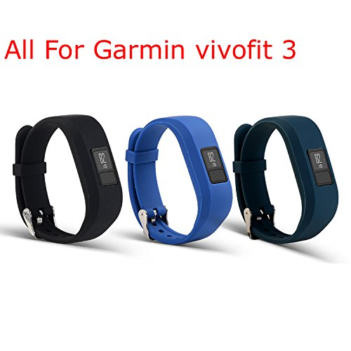 I-SMILE-Replacement-Wristband-With-Secure-Clasps-for-Garmin-Vivofit-3-OnlyNo-tracker-Replacement-Bands-Only