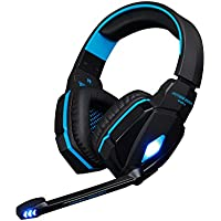 FeelGlad (TM) G4000 Stereo Gaming Headphone Headset With Microphone USB And 3.5 Mm Audio Interface Bass LED Light...