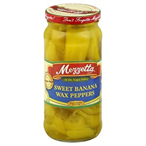 Amazon Com Mezzetta Sweet Banana Wax Peppers 16 Oz
