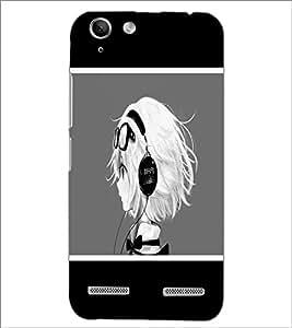 PrintDhaba Music Girl D-1367 Back Case Cover for LENOVO VIBE K5 PLUS (Multi-Coloured)