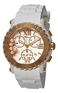 Chopard women's 288515-9001 Happy Sport Round Rose Gold Chronograph Watch by MUSIC TRADE