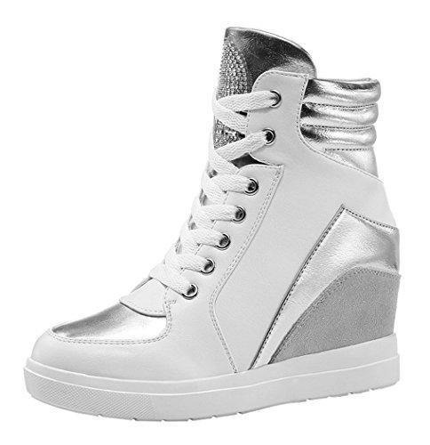 Guciheaven Women Fashion Sports Casual Han Version Increasing Shoes(8 B(M)Us, White)