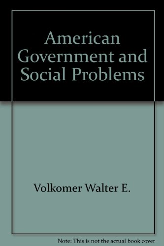American government and social problems