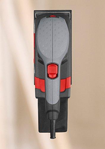 Skil-Schwingschleifer-7348-AA-160W-92-x-185-mm-Variable-Drehzahl-Klett-und-Klemmsystem-Staubsauger-Anschluss-Staubbeutel-3-tlg-Schleifpapierset