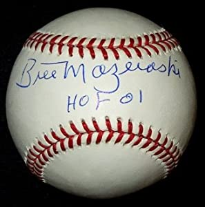 Bill Mazeroski Autographed Hand Signed Official MLB Baseball with HALL OF FAME 2001... by Real+Deal+Memorabilia