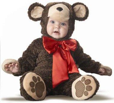 Baby Teddy Bear Halloween Costume (Size: 1-2T)