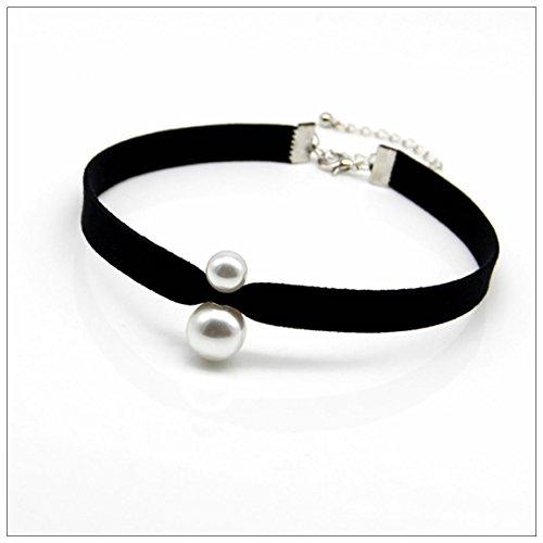 Collana pendente perla Choker Harajuku , black